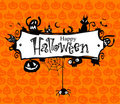 Halloween vector frame. Stock Images