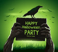 Halloween vector illustration dead man's arms from Royalty Free Stock Photo