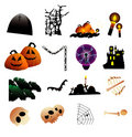 Halloween vector objects Royalty Free Stock Photo