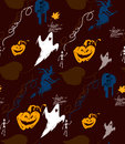 Halloween vector pattern skeleton Stock Image
