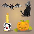 Halloween vector set this is file of eps format Stock Photography