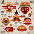 Halloween vintage set Stock Photography