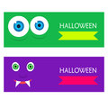Halloween web banners Royalty Free Stock Photo