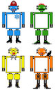 Halloween winter and fun toy robots set of four for just for Stock Photo
