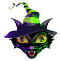 Halloween Witch Cat Royalty Free Stock Photography