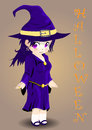 Halloween witch vector this is file of eps format Royalty Free Stock Photo