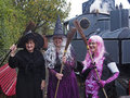 Halloween witches hesketh bank lancashire uk th october in fancy dress celebrating at west lancashire light railway Stock Photography