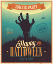 Halloween zombie party poster vector illustration Stock Image
