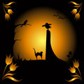 Hallowen card Royalty Free Stock Image
