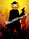 Hallowen party background with silhouette of people Stock Image