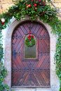 Hallstatt austria decorated door in in Stock Photography