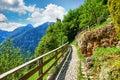 Hallstatt Austria paved picturesque stone track Royalty Free Stock Photo