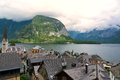 Hallstatt city and hallstatter see austria Royalty Free Stock Photography