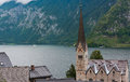Hallstatt city and hallstatter see austria Stock Image