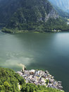 Hallstatt landscape, Salzburg. Mountain lake, Alpine massif, beautiful canyon in Austria. Royalty Free Stock Photo