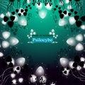 Hallucinogenic mushrooms psilocybe the shining of group Royalty Free Stock Images