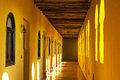Hallway in Berber Kasbah Royalty Free Stock Photo