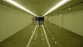 Hallway with the floor reflection simple and clean and lights Royalty Free Stock Images