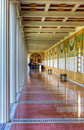 Hallway, Getty Villa, Malibu, California Royalty Free Stock Images