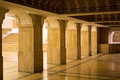 Hallway from mosque Hassan II in Casablanca, Morocco Royalty Free Stock Photo
