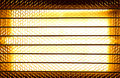 Halogen heater close up of a or infrared lamps Stock Photos