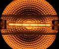 Halogen tube lamp with reflecting background Stock Photography