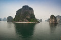 Halong bay vietnam national park unesco Stock Images