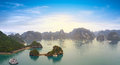 Halong bay vietnam panoramic view famous travel destination Stock Images