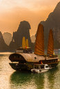 Halong bay vietnam unesco world heritage site most popular place in Royalty Free Stock Images