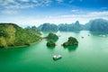 Halong bay in Vietnam Royalty Free Stock Photo