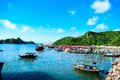 Halong Bay, Vietnam. Unesco World Heritage Site. Most popular place in Vietnam Royalty Free Stock Photo