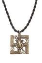 Halsband met messingstegenhanger in Hindoese gods ganesh vorm Royalty-vrije Stock Afbeeldingen