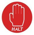 Halt icon Royalty Free Stock Photo