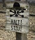 Halt! Stoj! Royalty Free Stock Photo