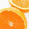 Halved orange. Stock Photos