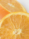 Halved orange Royalty Free Stock Images