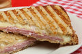 Ham & Cheese Panini Stock Photos