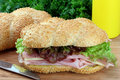Ham and Cheese Sub Sandwich Royalty Free Stock Photo