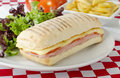 Ham & Cheese Toastie Stock Photo