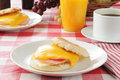 Ham and egg muffin Royalty Free Stock Image