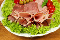 Ham with garnish Royalty Free Stock Photo