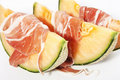 Ham and melon Royalty Free Stock Photos