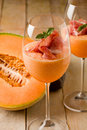 Ham and Melon Cocktail Stock Image