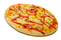 Ham and pineapple pizza Stock Image
