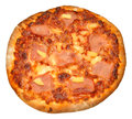Ham and pineapple pizza cozido pedra Fotografia de Stock