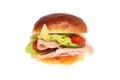 Ham salad roll Royalty Free Stock Photo