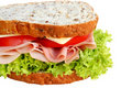 Ham and Salad Sandwich Royalty Free Stock Image