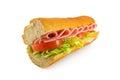Ham Salad Sandwich baguette Royalty Free Stock Photo