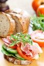 Ham sandwich Royalty Free Stock Photo
