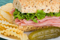 Ham sandwich Royalty Free Stock Photography